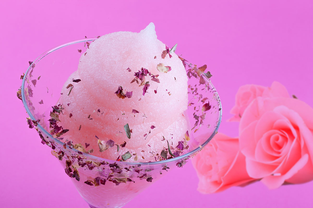 sorbetto vegan rosa